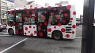 水玉模様のかわいいバス