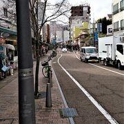 松山城城下の商店街