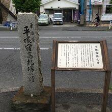 高札場所跡碑