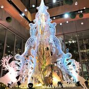Earth Treeが輝く丸ビルのクリスマス☆21時近くが空いていてゆったりと見学可能
