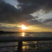 夕陽が綺麗だったわぁー