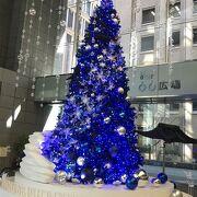 今は一階吹き抜けのクリスマスツリーがきれいです。