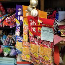 タイのお菓子も売っています