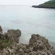 岩礁帯のせいか海はキレイでした