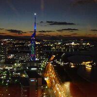 34Fラウンジからの福岡タワー