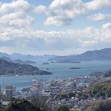 千光寺展望台からの景色