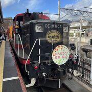 トロッコ列車で亀岡から嵯峨野へ