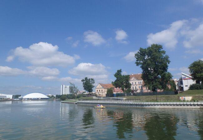 ミンスクでは歴史的な街並みが残る数少ない場所