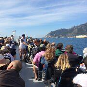 サレルノからアマルフィへは船が早くて便利!帰りの船での夕景が忘れられない♪
