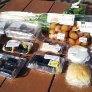 地元の食材がたくさん