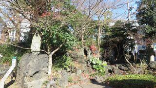 愛染院跡の溶岩塚 (愛染の滝)
