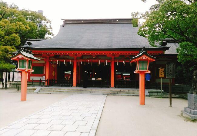 (住吉神社)博多駅からは徒歩10分くらいの所にあります