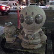高知橋とはりまや橋付近で、おなじみのキャラクターを見つけました