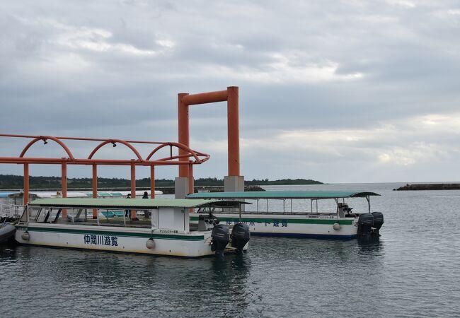 仲間川の遊覧船です