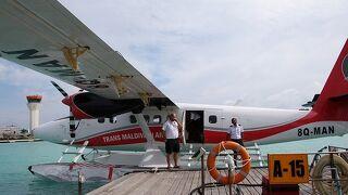 モルディブの水上飛行機は大興奮