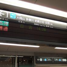 途中駅を通過する急行もありました