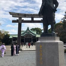 豊臣秀吉公銅像