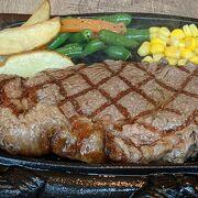 那覇空港から飛び立つ前にステーキを!