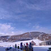 猪苗代湖を望める大きなスキー場