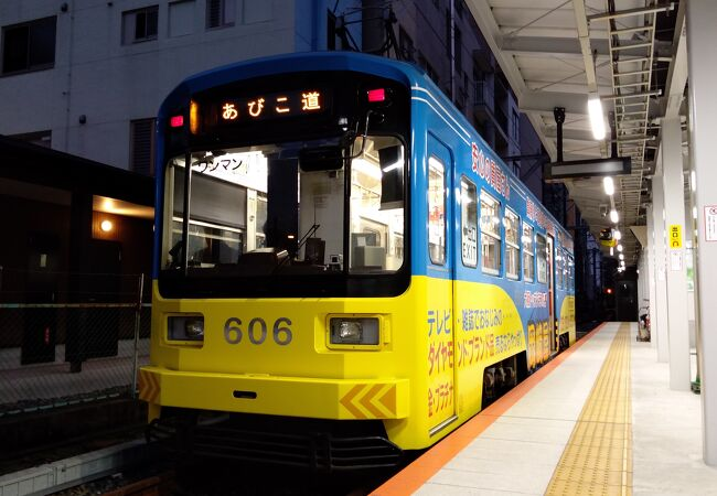阪堺線終点の駅が南へ移動していました