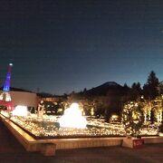 リサとガスパールタウンのライトアップが綺麗でした。