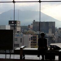 ロビーから眺める桜島