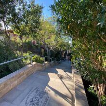 グエル公園までの階段