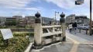 五条大橋のモニュメント