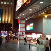 駅近くの昔ながらの商店街です。