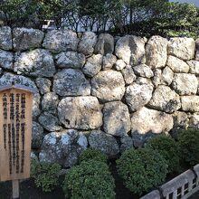 社殿を支えている石垣