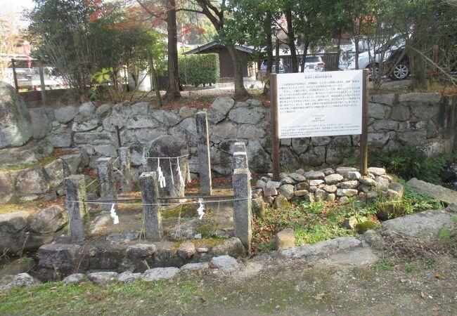 藍染川 梅壺侍従の蘇生の碑