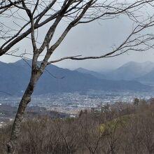 お部屋からの眺め(上田市方面)