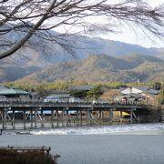 冬の渡月橋