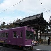 嵐山へと向かう電車