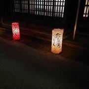 行灯の灯りが幻想的なイベント