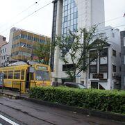 岡山駅前の大通り