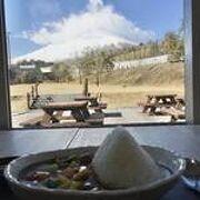 富士山眺めながら富士山カレー