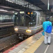 岡山から約1時間で高松に行けます