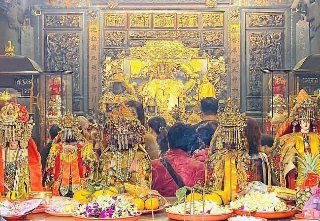 1729年創建で多くの信徒を有する新北市の媽祖廟