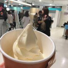 9Fバレンタインチョコレートフェアのホワイトチョコアイス