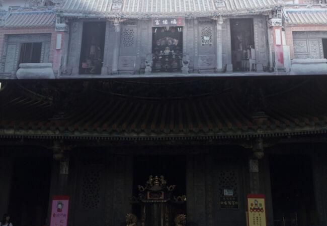 淡水の台湾風の寺院