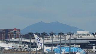 成田空港越しにみる美しい姿
