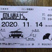 江ノ島電鉄:一日乗車券「のりおりくん」