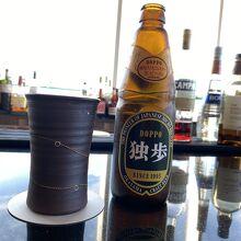 クラブフロアにて岡山の地ビール