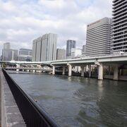 中之島の北側を流れる川でした。