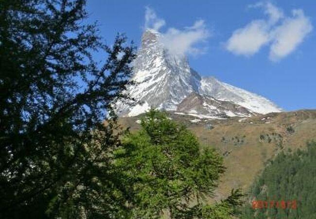 スイスアルプスのマッターホルン