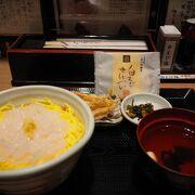 白えび丼には天ぷらもついてます