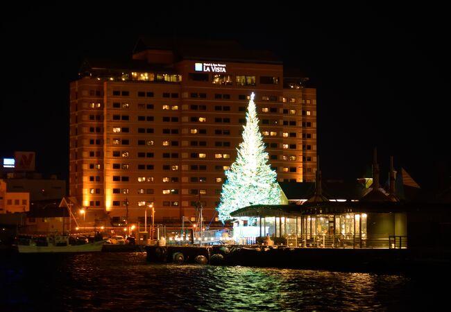 ベイエリアで行われるクリスマスイルミネーション
