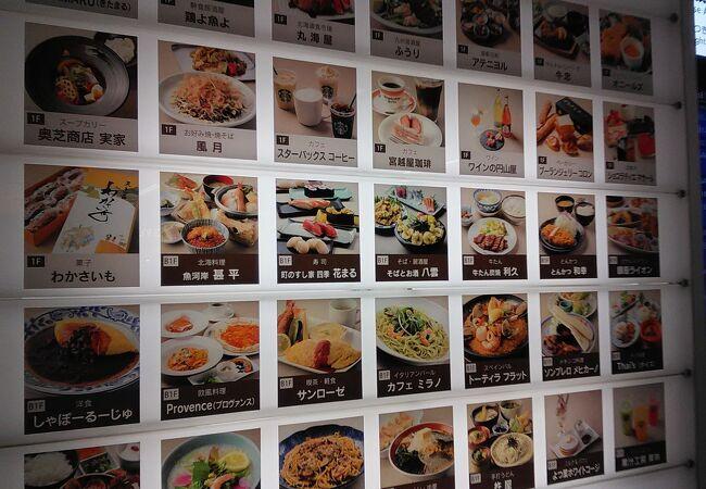 札幌駅直結ショッピング&飲食店街