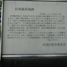 目黒競馬場跡碑